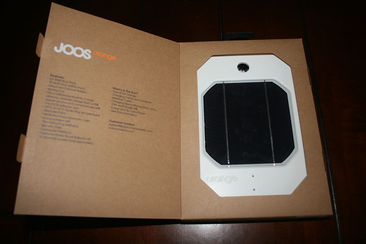 JOOS Orange Solar Charger