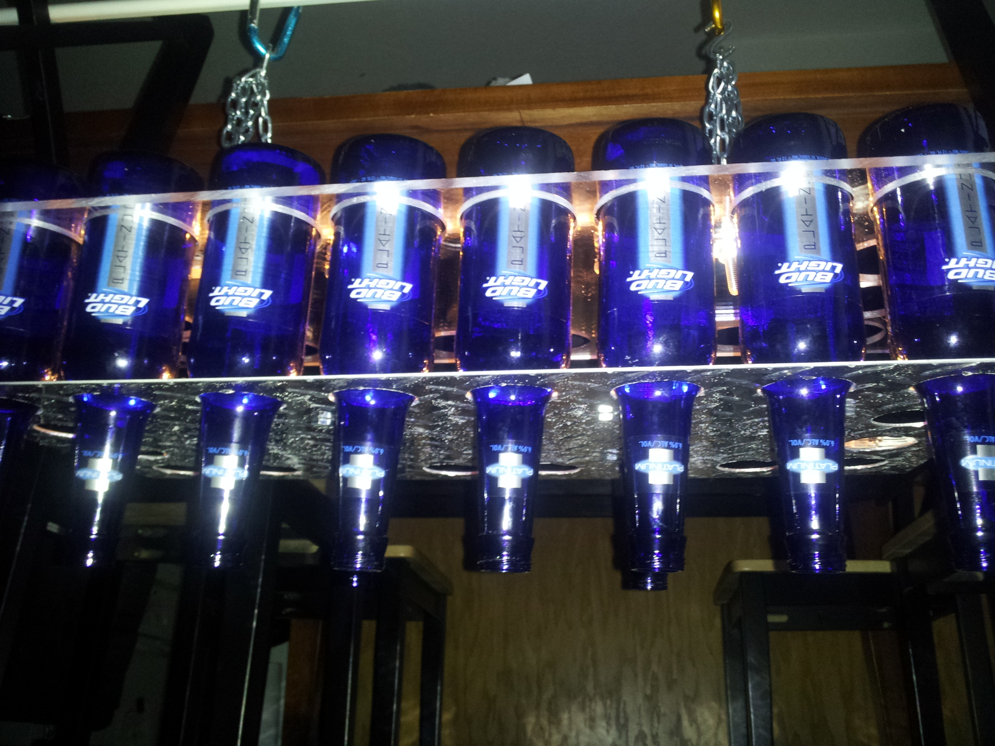 diy beer bottle chandelier brobility