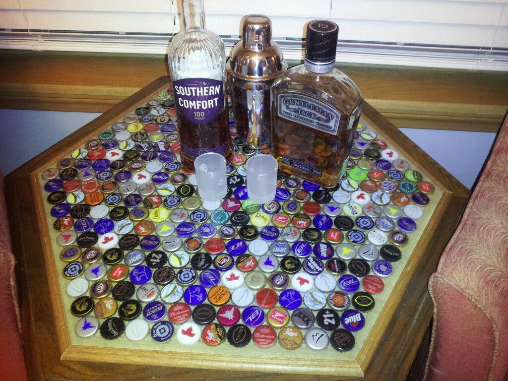 Diy Beer Cap Table Brobility