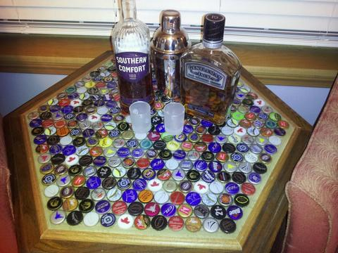 DIY Beer Cap Table
