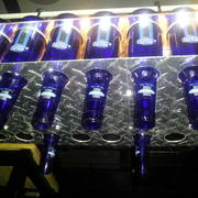 DIY Beer Bottle Chandelier finished